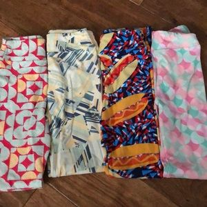 🌸Lularoe lot of 4 l/xl leggings 🌸